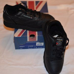 90s Reebok deadstock Classic black leather shoes